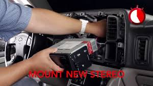 basic installation of an aftermarket stereo into a gm vehicle
