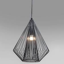Wire Pendant Light Polygon Black Pear Wire Ceiling Light Pendant Lights Sustainable