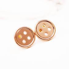button earrings button stud earrings