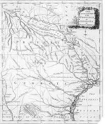 Map Georgia Usa by Cherokee Indians New Georgia Encyclopedia