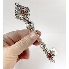 santa key global key 18k gold or rhodium plated with jewels