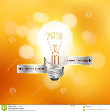 vector creative light bulb idea 2016 new year stock vector image