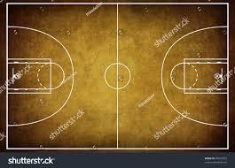 Basketball Court Floor Plan Basketball Court Floor Plan On Vintage Stock Illustration 65867872
