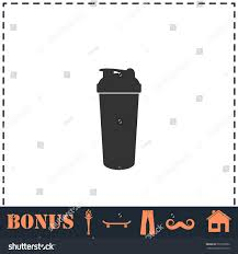 martini shaker silhouette cocktail shaker icon flat simple vector stock vector 557870962