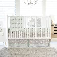 Gray Baby Crib Bedding Gray Deer Crib Bedding Woodland Baby Bedding Deer Baby Bedding