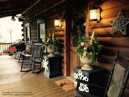 log cabin outdoor lighting outdoor christmas decorating ideas for an amazing porch