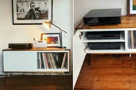 got bestå covered a record player stand ikea hackers ikea hackers