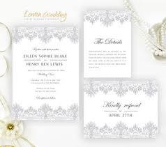 silver wedding invitations lemonwedding