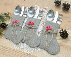 Table Decorations For Christmas Burlap Christmas Etsy