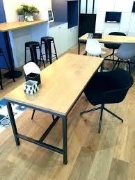 bureau bois acier table bureau bois table acier bois industriel bureau bois acier
