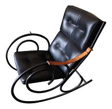 Knoll Rocking Chair Sculptural Steel Rocking Chair In The Style Of Michael Thonet On