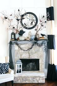 fireplace mantel decor with tv decorating ideas for fall natural