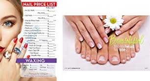 amazon com nail salon poster nail salon price list by clipper
