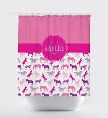 custom horse shower curtain for boys and girls personalized