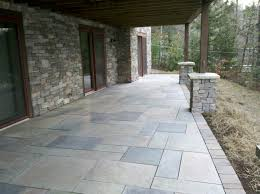 Pavers Over Concrete Patio by Techo Bloc Aberdeen Paver Patio With Soldier Course Brant Lake Ny
