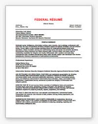 How To Create A Federal Resume Military Resume Samples