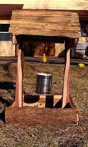 rustic cedar wishing well planter box by cedar furniture lodge