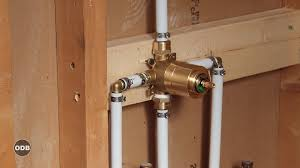 copper bathroom faucet diy how to install copper to pex shower and bath plumbing youtube