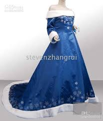 winter wedding dresses 2010 2010 new style winter blue wedding dresses bridal gown custom all