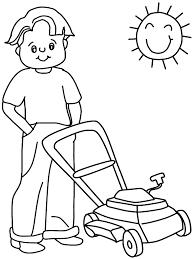 printable lawnmower summer coloring pages coloringpagebook