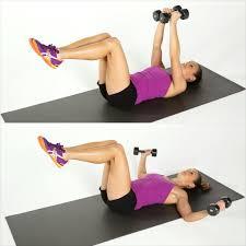 lying chest fly best dumbbell arm exercises popsugar fitness