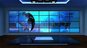 Green Tv by News Tv Studio Set 08 Virtual Green Screen Background Loop