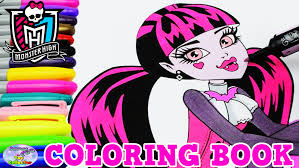 monster coloring book episode show draculaura mh surprise egg