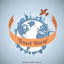 traveling around the world images Plane traveling around the world vector free download jpg
