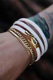 bracelet gold leather man images The 142 best men 39 s accessories images bracelets jpg