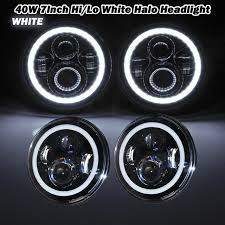 round led driving lights 7 inch round led headlight led driving lights white halo angel