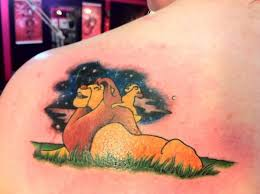 baby simba and mufasa tattoos pictures to pin on pinterest