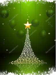 green and gold christmas tree background portrait u2014 stock vector