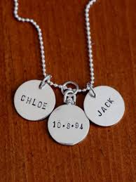 childs name necklace 2 sided circle necklace kandsimpressions