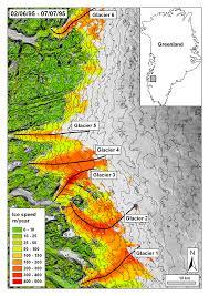 Greenland Map Greenland Glacier Change Index From A Glacier U0027s Perspective
