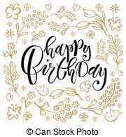 happy birthday simple design happy birthday party lettering typography happy birthday vector