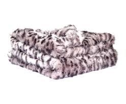 Leopard Print Faux Fur Throw Grey Leopard Faux Fur Throw Tielle Love Luxury Love Luxury