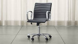 Small Leather Desk Chair Black Leather Desk Chair For Small Office All Office