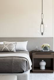 grey minimal masculine bedroom design by matthew leverone