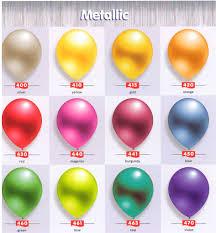 metallic balloons metallic balloons party favors ideas