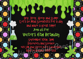 mad science birthday invitation mad scientist birthday party