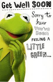 get well soon cards kermit the frog get well soon card cards kates