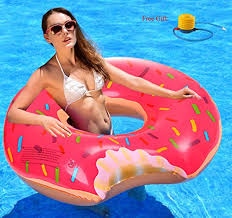 Amazon Pool Floats Aliskity Gigantic Strawberry Pink Donut Pool Float 48 Inches