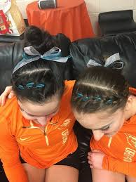 ribbon for hair that says gymnastics oregon state gymnasts symbolically support sexual assault survivors