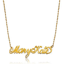 Name Chain Name Necklace 18 K Gold 925 Sterling Silver Couples Names Custom