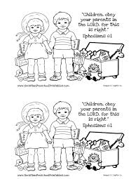 children obey your parents coloring page and glum me