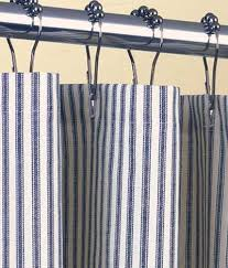 White And Blue Striped Curtains Things I Grey And Blue Stripes Bath Pinterest Gray