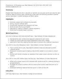Receptionist Resume Template Professional Salon Receptionist Templates To Showcase Your Talent