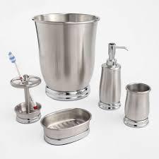 Nickel Finish Bathroom Accessories by Nice Ideas Brushed Nickel Bathroom Accessories Sets 17 Satin