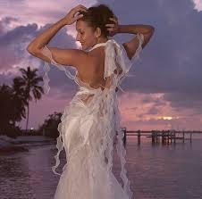 custom designed silk beach wedding dresses and resort wear