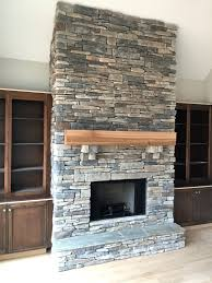 cultured stacked stone fireplace echo ridge diy surround veneer